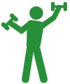 иконка фитнес человека